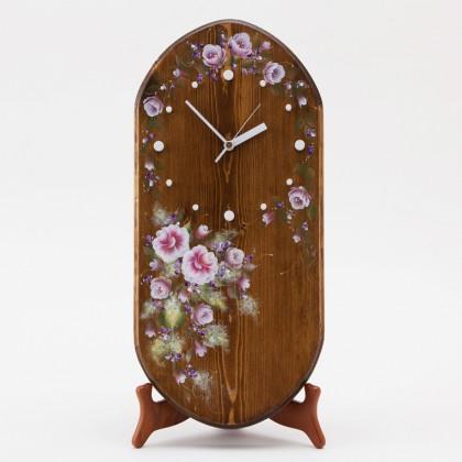 オーダーメイドの掛け置き兼用木工時計