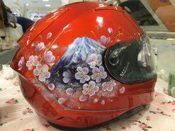 ヘルメット・富士山と桜